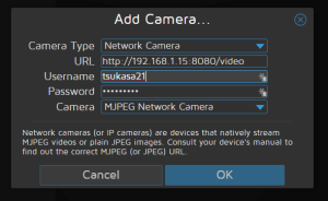 MotionPie Configurer une Camera IP